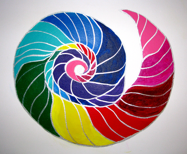 Spiraling Rainbow Magic